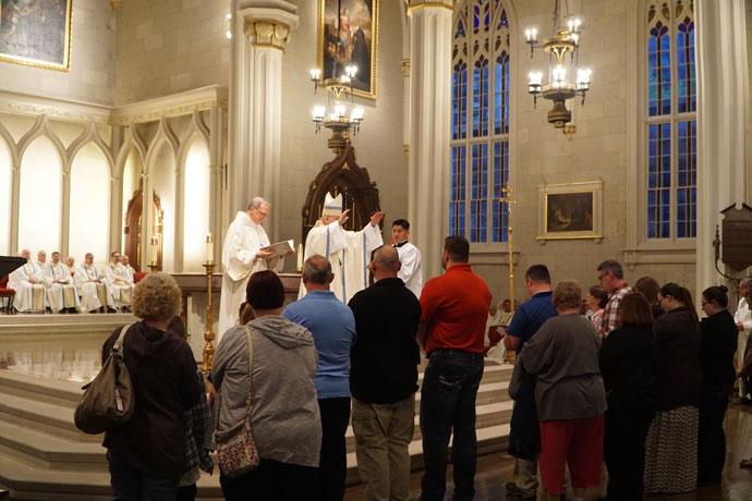 Archbishop Kurtz prayed over the elect and candidates.