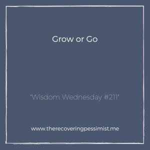 The Recovering Pessimist: Wisdom Wednesday #211 -- There comes a time in adulthood where you reach a crossroads with the people around you. As you continue to grow, they can either grow with you OR they get left behind. | www.therecoveringpessimist.me #amwriting #recoveringpessimist #optimisticpessimist #wisdomwednesday