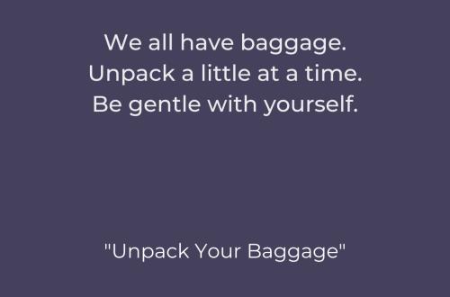 The Recovering Pessimist | Unpack Your Baggage | www.therecoveringpessimist.me | #amwriting #recoveringpessimist #optimisticpessimist