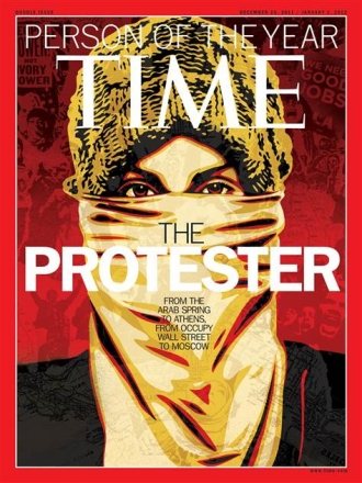 Time Person of the Year. The Protestor.