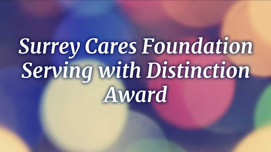 Surrey Cares Foundation Serving with Distinction Award