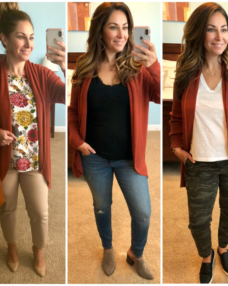 3 Ways Leith Ribbed Cardigan