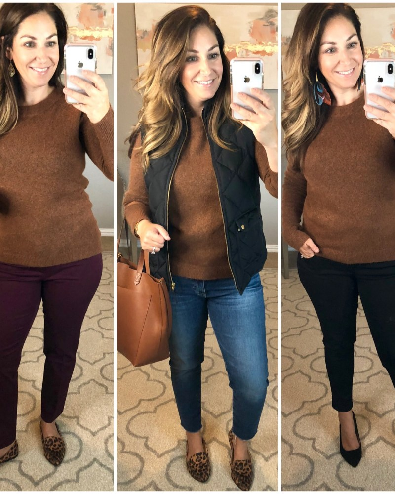 3 Ways- Loft Bar Back Sweater