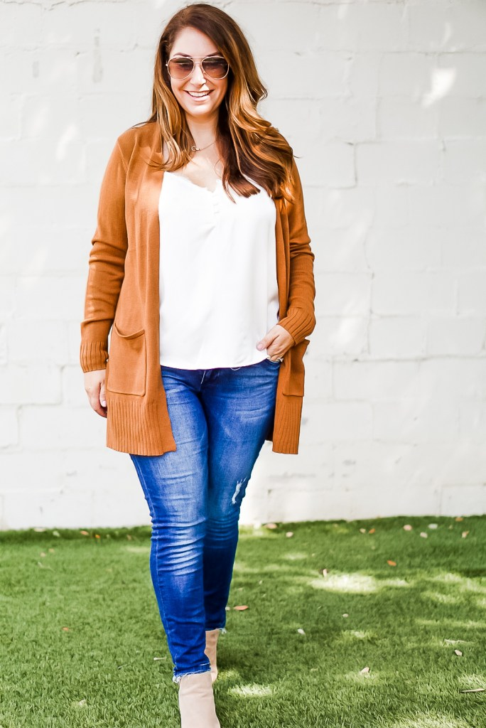 old navy rust/ brown cardigan for fall 2019