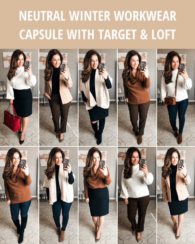 Winter Workwear Capsule: TARGET & LOFT Neutrals