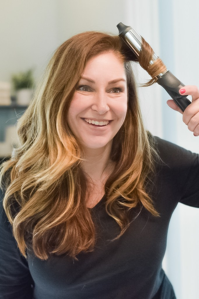 GHD curling iron is my secret weapon to perfect curls!