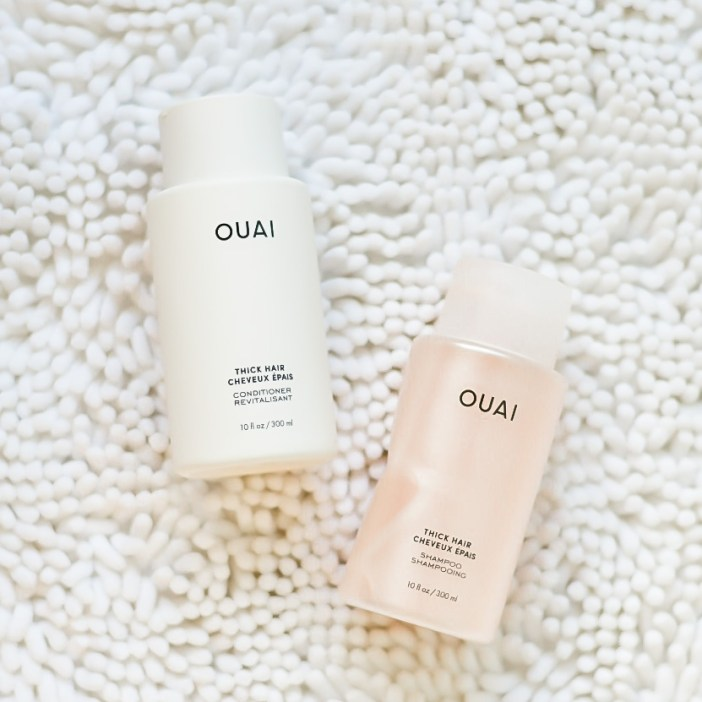 Ouai Thick Hair Shampoo and Conditioner are some of my favorite for my thick long hair