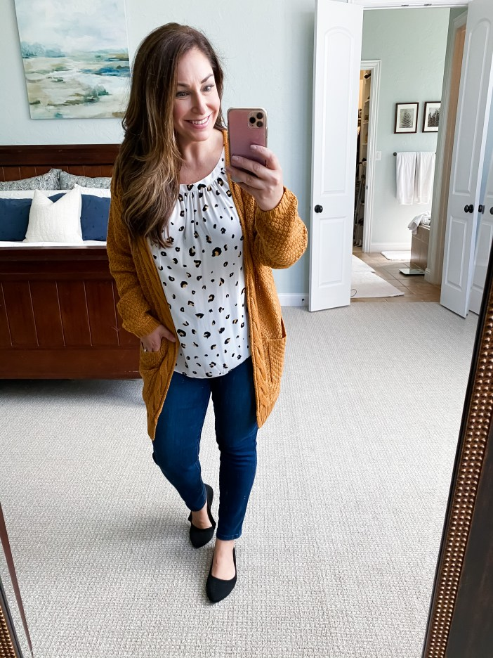 Teacher outfit // fall 2020 // leopard  // Amazon finds August 2020