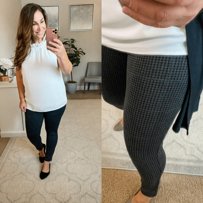 printed leggings// business casual // Amazon finds August 2020