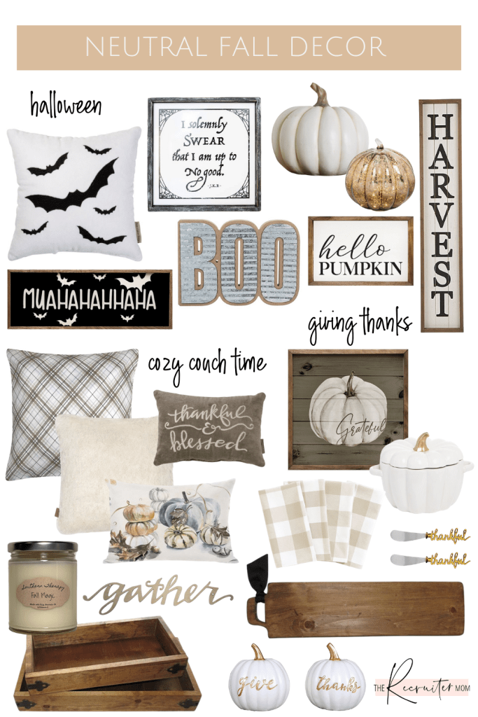Fall Neutral Home decor for Fall 2020 all from Zulily #fallfarmhouse #falldecor #neutraldecor #neutralfall