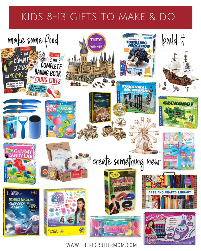 Kid Gifts ages 8-13 Things to Make and Do #nontoygifts #actvitiesforkids #giftsforkids