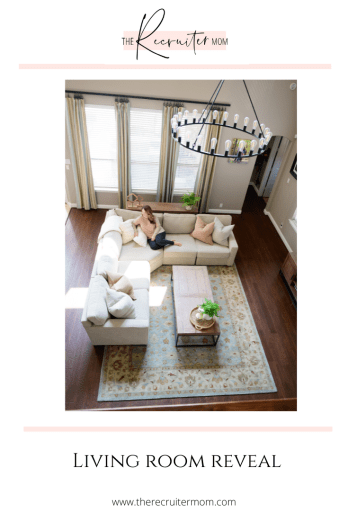 #livingroomreveal #PotteryBarn #PotteryBarnRug #ModernCostal, #CoffeeTable #HomeDecor #Sofa #Couch #livingroomdecor #decor #pillow #arearug #bluerug #mediatable #wagonwheelchandelier  #handtuftedwoolrug #Sectional #console #texashome
