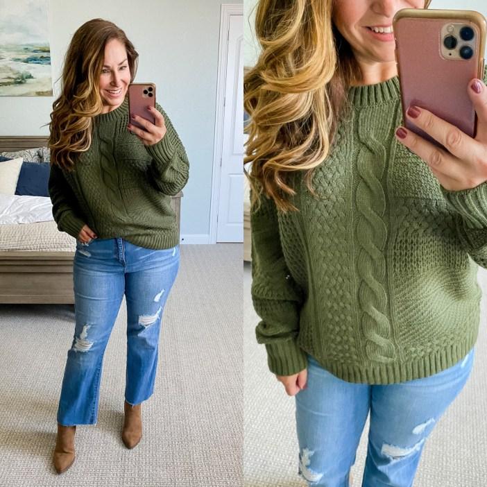 Casual Fall Sweater #affordablefashion #fallstyle #fallfashion #walmartfashion #womensfallclothing #outfitideas #fallsweater