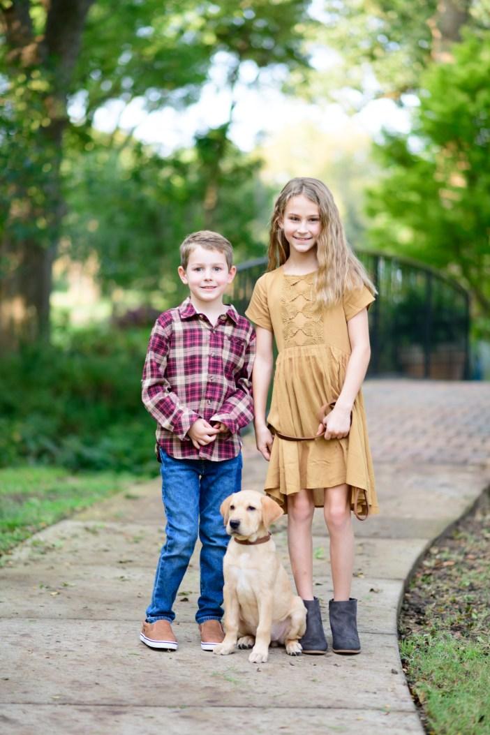 Boy's and Girl's Outfits for Fall Family Photos #girlsfallclothing #boysfallclothing #fallstyle #fallfashion #familyphotos #falldress #plaidshirt