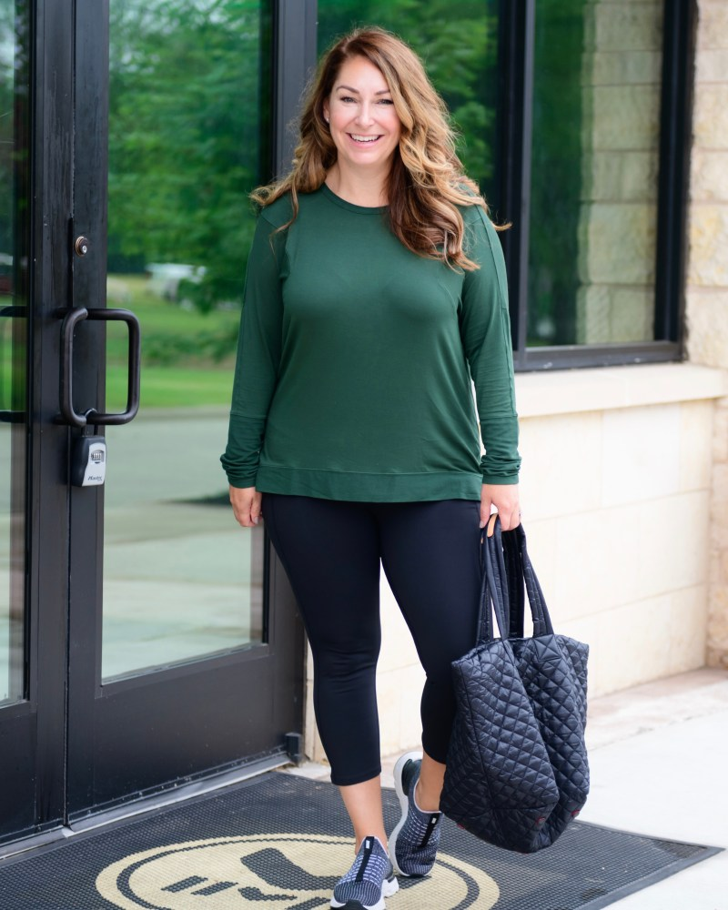 School Drop Off Outfits | Fall Athleisure