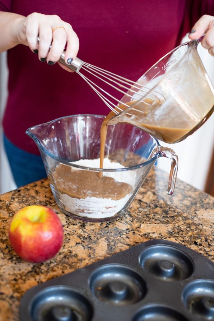 Making Apple Cider Donuts for Fall #fallstyle #fallrecipe #appleciderdonuts #fallsweaters #falldenim #nordstrom #goodamerican