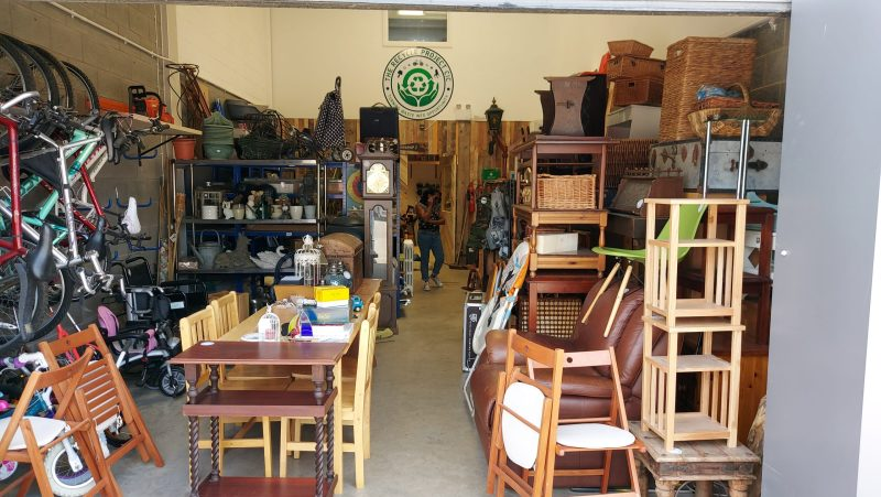 Items in storage at The Recycle Project