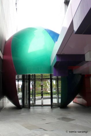 The Beach Ball Entry Sculpture and Wind Break at The Quays