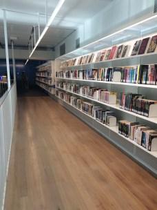 Mezzanine book shelves