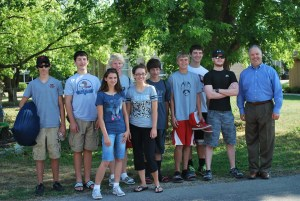 Image of the Red Brick Teens before leaving for camp.