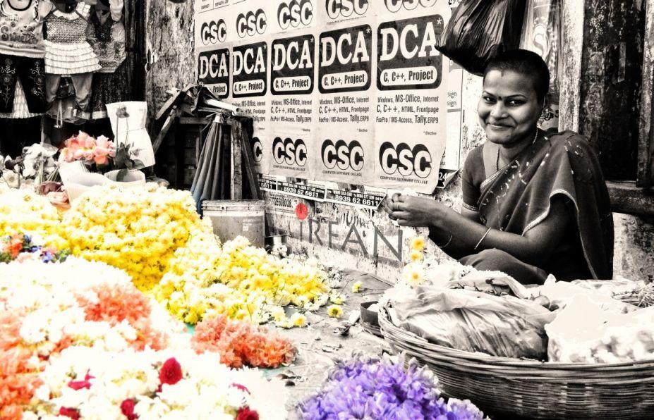 pretty, flower, lady, black and white, portraits, irfan hussain, thereddotman, irfan, hussain