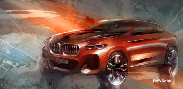BMW X4 M40i Concept Drawing