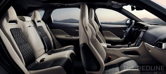 Jaguar F-Pace SVR interior photos
