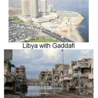 Worth a Thousand Words: Libya before and after