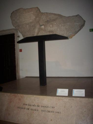 An inscription plaque of naval explorer Diogo Cao arrived in the south of Africa, 1483