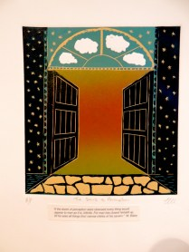 Samhain 2013 -The doors of Perception .Reduction linocut