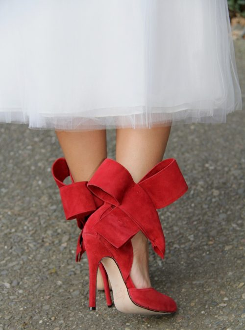 Meet the devastatingly good-looking Red Bow Pump from Aminah Abdul Jillil