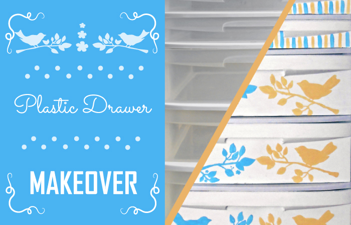 Plastic drawer makeover: a budget-friendly way to transform your boring plastic organizer into a cute aqua sandy chest!