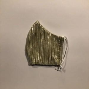 Mondkapje #Lamé shiny goud