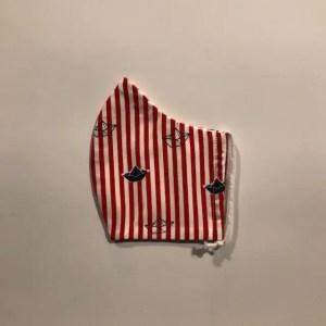 Mondkapje #Bootjes rood-wit
