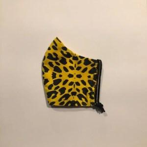 Mondkapje #luipaard geel-zwart (laatste)