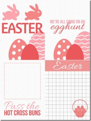 Pink Easter Cards