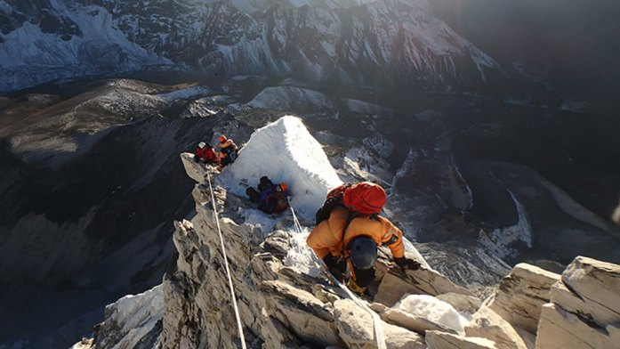 Descending Ama Dablam