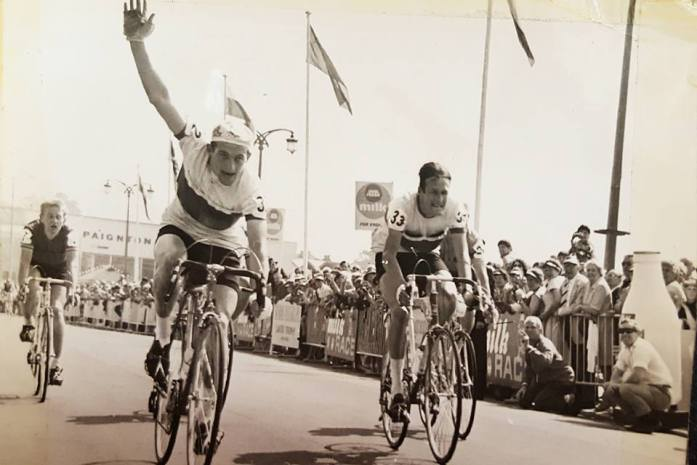 Early idols - Peter Doyle winning a stage from Liam Horner in the Tour of Britain