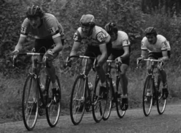 Winning break - 1978 Tour of Ireland (L to R) Peter Morton, Oliver McQuaid, Bernard McCormack, Michael Cusack