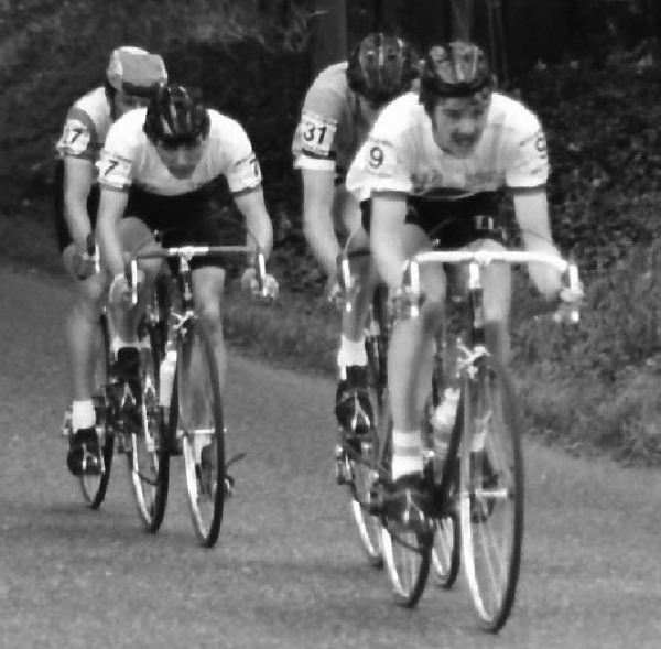 The author leading the winning break - final stage in the 1978 Tour of Ireland