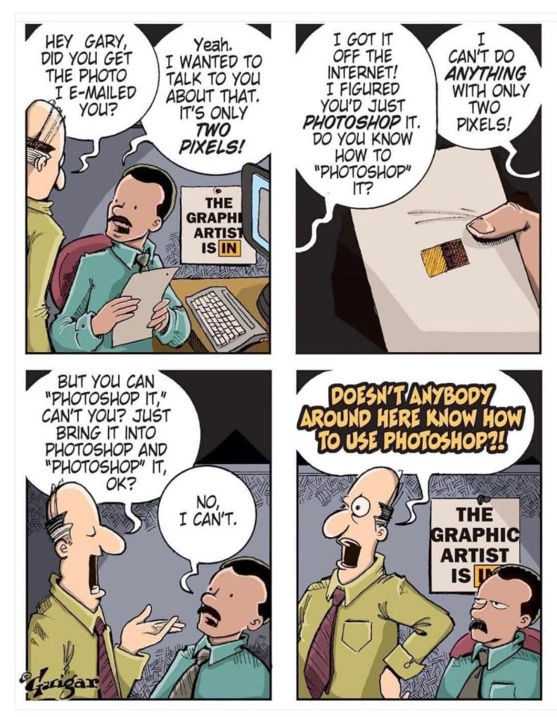 Brad Guigar comic strip photoshop