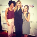 Host Meah Denee with Brokenness jewelry designers Sarah Olbrantz and Allie Walz.