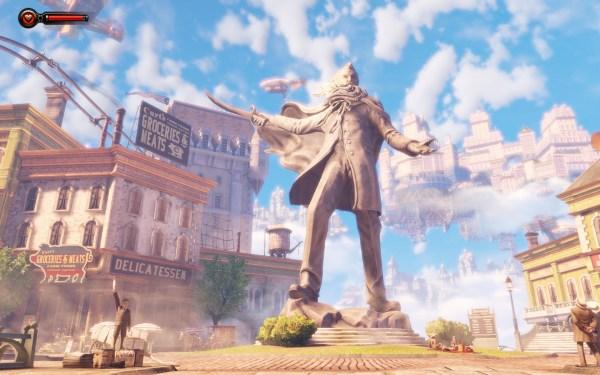 Bioshock Infinite Screenshot Wallpaper Comstock Statue