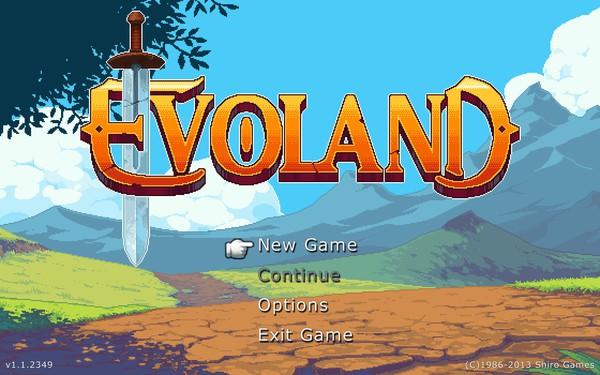 Evoland Screenshot Wallpaper Title Screen