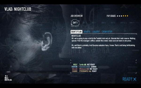 Payday 2 Screenshot Wallpaper Mission Screen