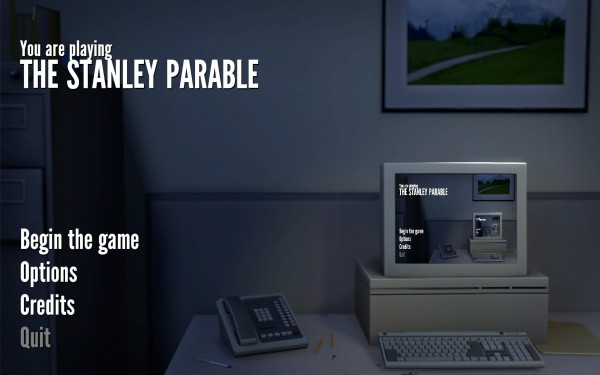 The Stanley Parable Review Screenshot Wallpaper Title Screen