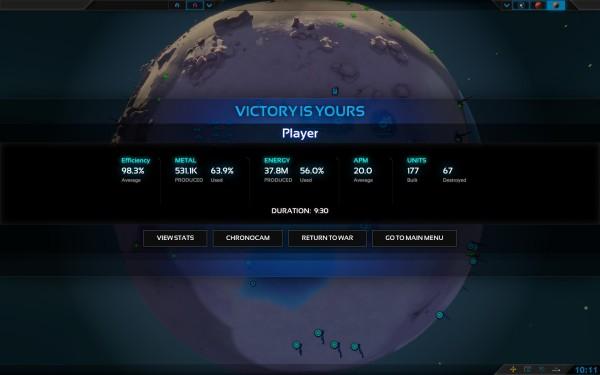 Planetary Annihilation Screenshot Wallpaper Victory