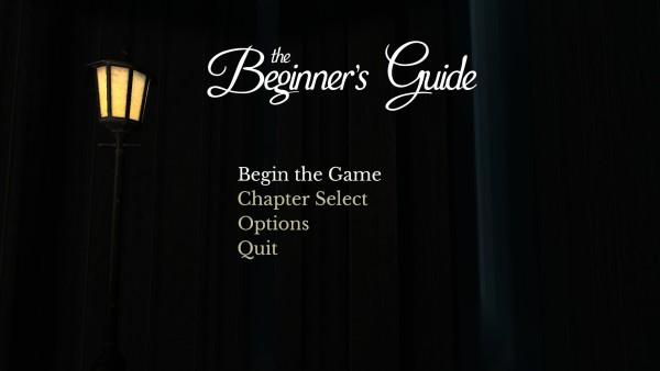 The Beginners Guide Review Screenshot Wallpaper Title Screen