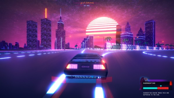 Outdrive Review Screenshot Wallpaper Neon City