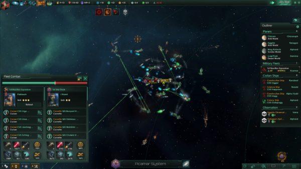 Stellaris Review Screenshot Wallpaper Battle